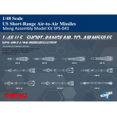 Meng SPS-043 1/48 Scale US Short-Range Air-to-Air Missiles Set Military Plastic Assembly Model Kit