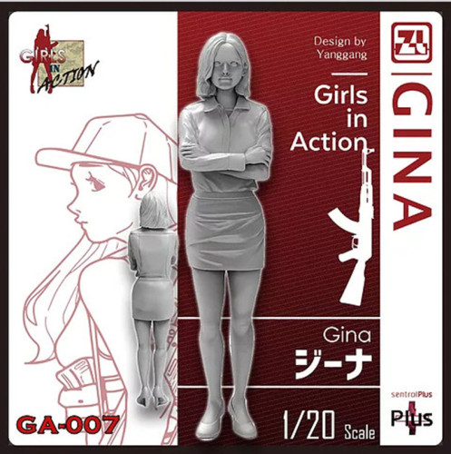 Korea ZLPLA Genuine 1/20 Scale Resin Figure Girls in Action Gina Assembly Model Kit GA-007