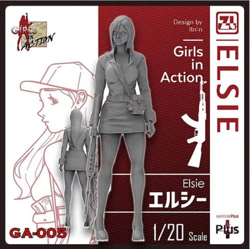 Korea ZLPLA Genuine 1/20 Scale Resin Figure Girls in Action Elsie Assembly Model Kit GA-005