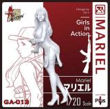 Korea ZLPLA Genuine 1/20 Scale Resin Figure Girls in Action Mariel Assembly Model Kit GA-013