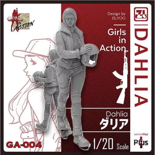 Korea ZLPLA Genuine 1/20 Scale Resin Figure Girls in Action Dahlia Assembly Model GA-004