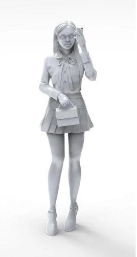 Korea ZLPLA Genuine 1/20 Scale Resin Figure Girls in Action Hana Assembly Model Kit GA-008