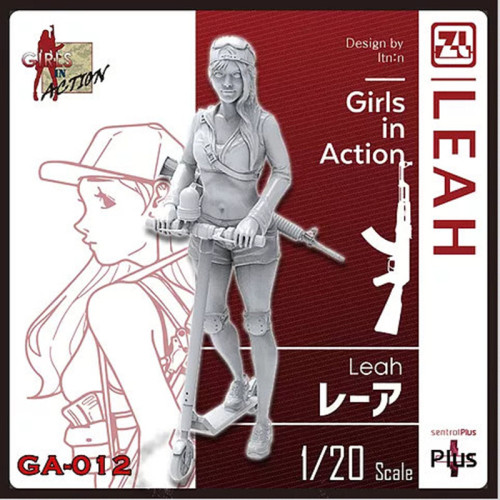 Korea ZLPLA Genuine 1/20 Scale Resin Figure Girls in Action Leah Assembly Model Kit GA-012