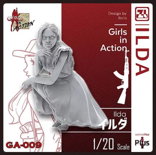 Korea ZLPLA Genuine 1/20 Scale Resin Figure Girls in Action ILDA Assembly Model Kit GA-009