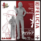 Korea ZLPLA Genuine 1/20 Scale Resin Figure Girls in Action Felicia Assembly Model GA-006