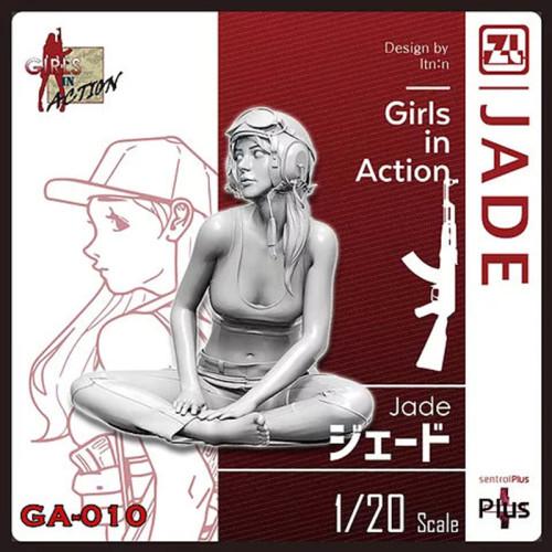 Korea ZLPLA Genuine 1/20 Scale Resin Figure Girls in Action Jade Assembly Model Kit GA-010