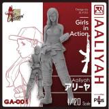 Korea ZLPLA Genuine 1/20 Scale Girls in Action Aaliyah Resin Figure Assembly Model GA-001
