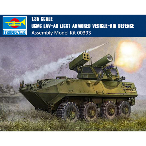 Trumpeter 00393 1/35 Scale USMC LAV-AD Light Armored Air Defense Vehicle Military Assembly Model Kit