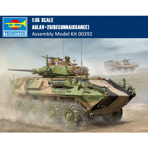 Trumpeter 00392 1/35 Scale ASLAV-25(Reconnaissance) Military Plastic Assembly Model Kits