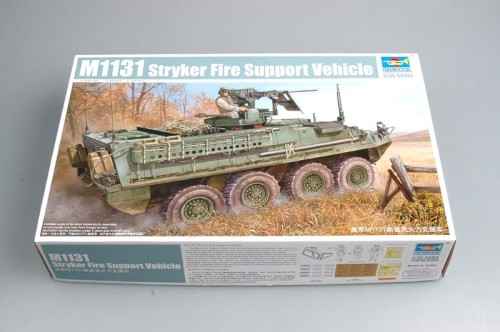 Trumpeter 00398 1/35 Scale US Army M1131 Stryker Fire Support Vehicle FSV Military Plastic Assembly Model Kit