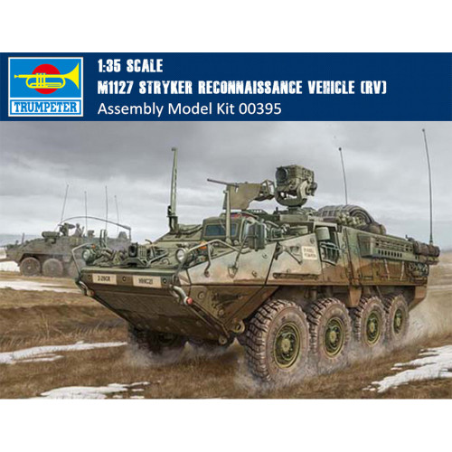 Trumpeter 00395 1/35 Scale M1127 Stryker Reconnaissance Vehicle (RV) Military Plastic Assembly Model Kit