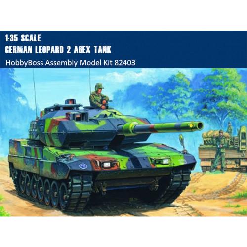 HobbyBoss 82403 1/35 Scale German Leopard 2 A6EX MBT Tank Military Plastic Assembly Model Kit