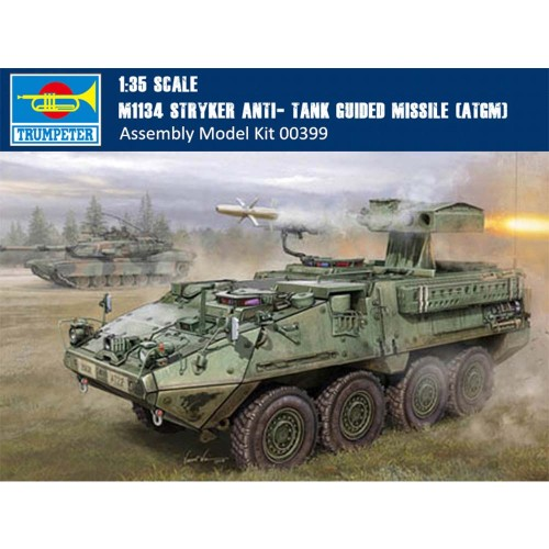 Trumpeter 00399 1/35 Scale US M1134 Stryker Anti- Tank Guided Missile (ATGM) Military Plastic Assembly Model Kit