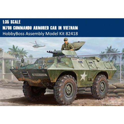 HobbyBoss 82418 1/35 Scale US M706 Commando Armored Car in Vietnam Military Platic Assembly Model Kit