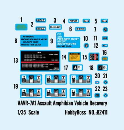 HobbyBoss 82411 1/35 Scale AAVR-7A1 Assault Amphibian Vehicle Recovery w/Full Interior Military Assembly Model Kit