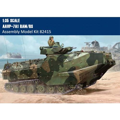 HobbyBoss 82415 1/35 Scale AAVP-7A1 RAM/RS w/Full Interior Military Plastic Assembly Model Kit