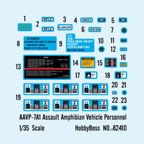 HobbyBoss 82410 1/35 Scale AAVP-7A1 Assault Amphibian Vehicle Personnel Military Assembly Model Kit