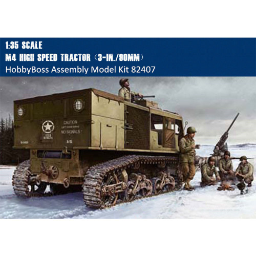 HobbyBoss 82407 1/35 Scale M4 High Speed Tractor(3-in./90mm)Military Plasstic Assembly Model Kits