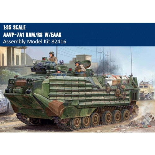 HobbyBoss 82416 1/35 Scale AAVP-7A1 RAM/RS w/EAAK w/Full Interior Military Plastic Assembly Model Kit