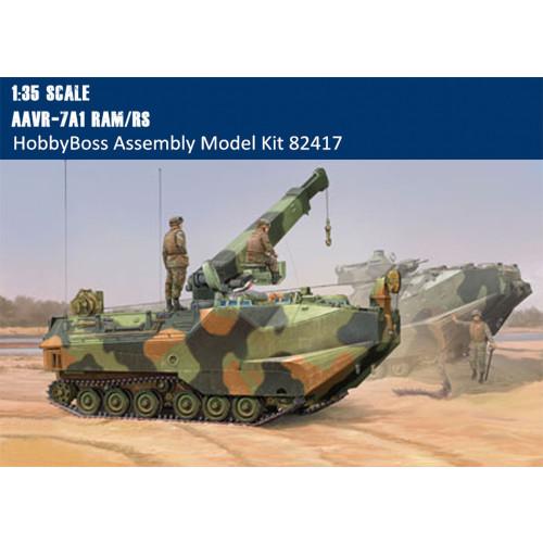 HobbyBoss 82417 1/35 Scale AAVR-7A1 RAM/RS w/Full Interior Military Platic Assembly Model Kit