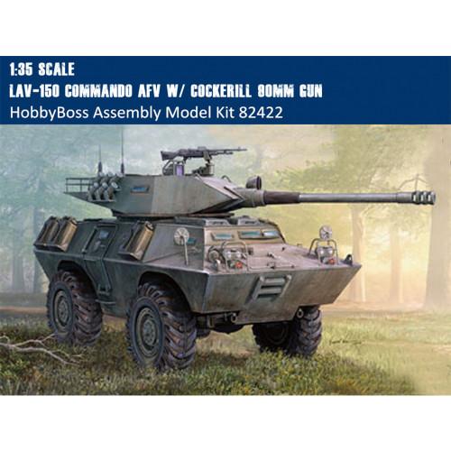 HobbyBoss 82422 1/35 Scale LAV-150 Commando AFV w/ Cockerill 90mm Gun Military Platic Assembly Model Kit