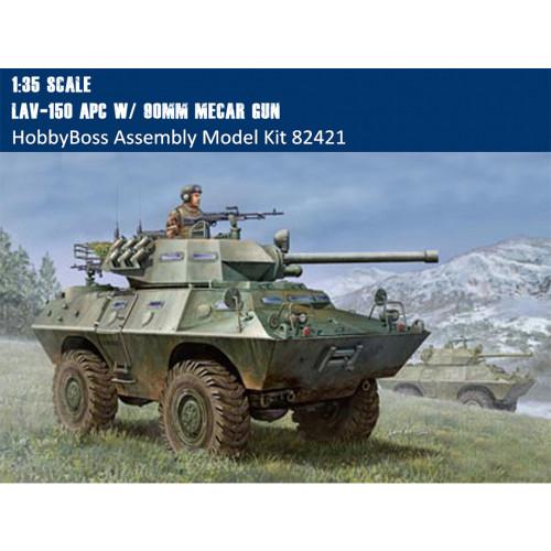 HobbyBoss 82421 1/35 Scale LAV-150 APC w/ 90mm Mecar Gun Military Platic Assembly Model Kit