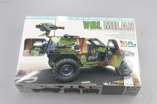 Tiger Model 4618 1/35 Scale French VBL Milan Light Armoured Vehicle Military Plastic Assembly Model Kit