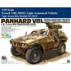 Tiger Model 4619 1/35 Scale French VBL.50MG Light Armoured Vehicle Military Plastic Assembly Model Kit