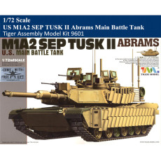 Tiger Model 9601 1/72 Scale US M1A2 SEP TUSK II Abrams Main Battle Tank Military Plastic Assembly Model Kit