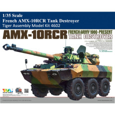 Tiger Model 4602 1/35 Scale French AMX-10RCR Tank Destroyer Military Plastic Assembly Model Kit