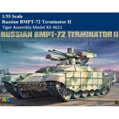 Tiger Model 4611 1/35 Scale Russian BMPT-72 Terminator II Military Plastic Assembly Model Kit
