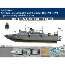 Tiger Model 6293 1/35 Scale Sweden Fast Assault Craft Combat Boat 90/CB90 Military Plastic Assembly Model Kit