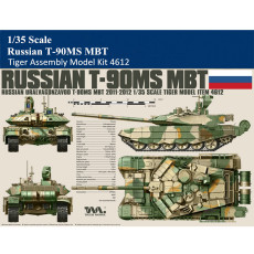 Tiger Model 4612 1/35 Scale Russian T-90MS MBT Military Plastic Tank Assembly Model Kit