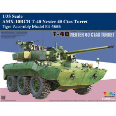 Tiger Model 4665 1/35 Scale AMX-10RCR T-40 Nexter 40 Ctas Turret Military Plastic Assembly Model Kit