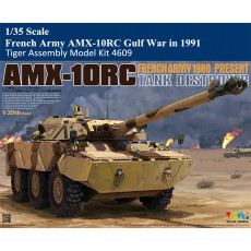Tiger Model 4609 1/35 Scale French Army AMX-10RC Gulf War in 1991 Military Plastic Assembly Model Kit