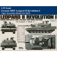 Tiger Model 4629 1/35 Scale German MBT Leopard II Revolution-I Military Plastic Assembly Model Kit