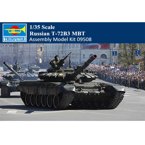 Trumpeter 09508 1/35 Scale Russian T-72B3 MBT Armor Plastic Assembly Tank Model Kit