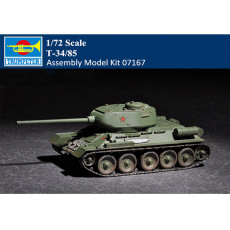 Trumpeter 07167 1/72 Scale T-34/85 Tank Military Plastic Assembly Model Kit