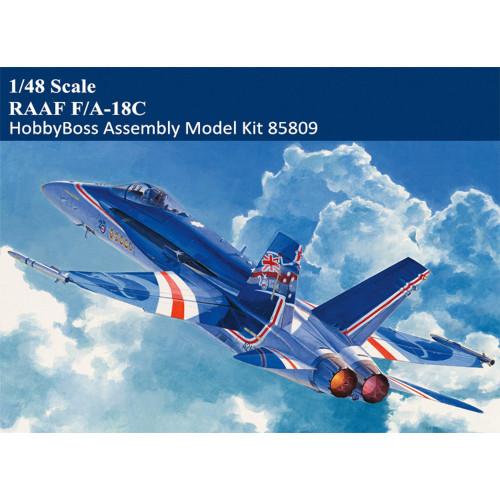 HobbyBoss 85809 1/48 Scale RAAF F/A-18C Hornet Military Plastic Aircraft Assembly Model Kit