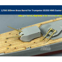 1/350 Scale 203mm Brass Gun Barrel for Trumpeter 05350 05351 HMS Exeter/York Heavy Cruiser CYG029 6pcs/set