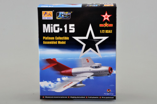Trumpeter Easy Model 37132 1/72 Scale MiG-15 Military Plastic Finished Aircraft Model Kit