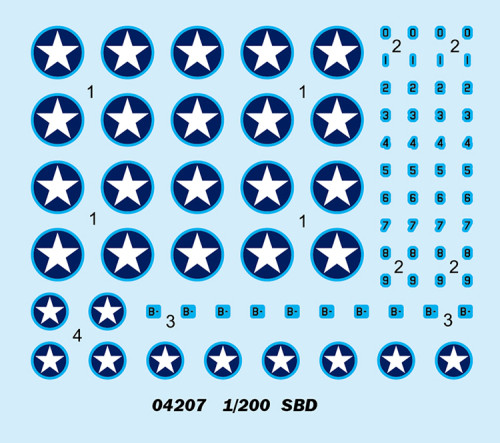 Trumpeter 04207 1/200 Scale SBD Dauntless Plastic Aircraft Assembly Model Kit
