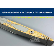1/350 Scale Wooden Deck for Trumpeter 05350 HMS Exeter Heavy Cruiser Model CY350055