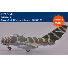 Trumpeter Easy Model 37133 1/72 Scale MiG-15 Military Plastic Finished Aircraft Model Kit