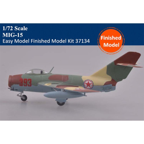 Trumpeter Easy Model 37134 1/72 Scale MiG-15 Military Plastic Aircraft Finished Model Kit