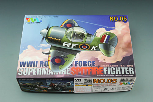 Tiger Model 105 WWII Royal Air Force Spitfire Fighter Cute Series Q Edition Plastic Aircraft Assembly Model Kit