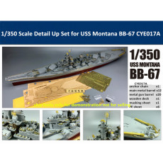 1/350 Scale Detail Up Set & Resin Gun Turret for USS Montana BB-67 Model CYE017