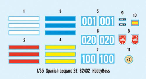 HobbyBoss 82432 1/35 Scale Spanish Leopard 2E Main Battle Tank Military Plastic Assembly Model Kit