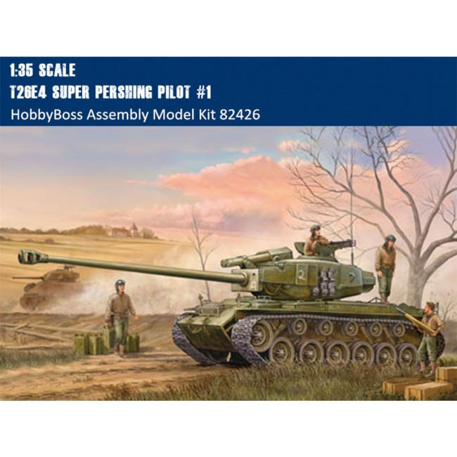 HobbyBoss 82426 1/35 Scale T26E4 Super Pershing Pilot #1 Military Plastic Tank Assembly Model Kits