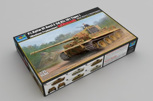 Trumpeter 09539 1/35 Scale Sd.Kfz.181 Tiger I Medium Production w/ Zimmerit Military Assembly Model Kit